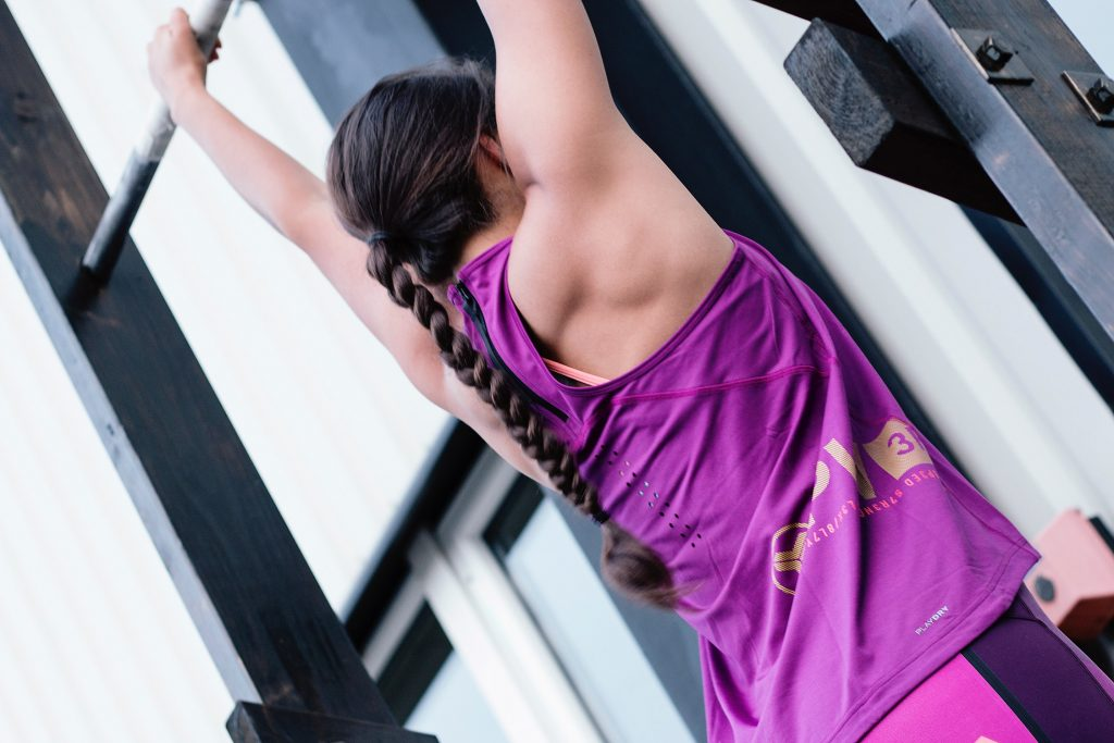 Woman Performing Pull-up